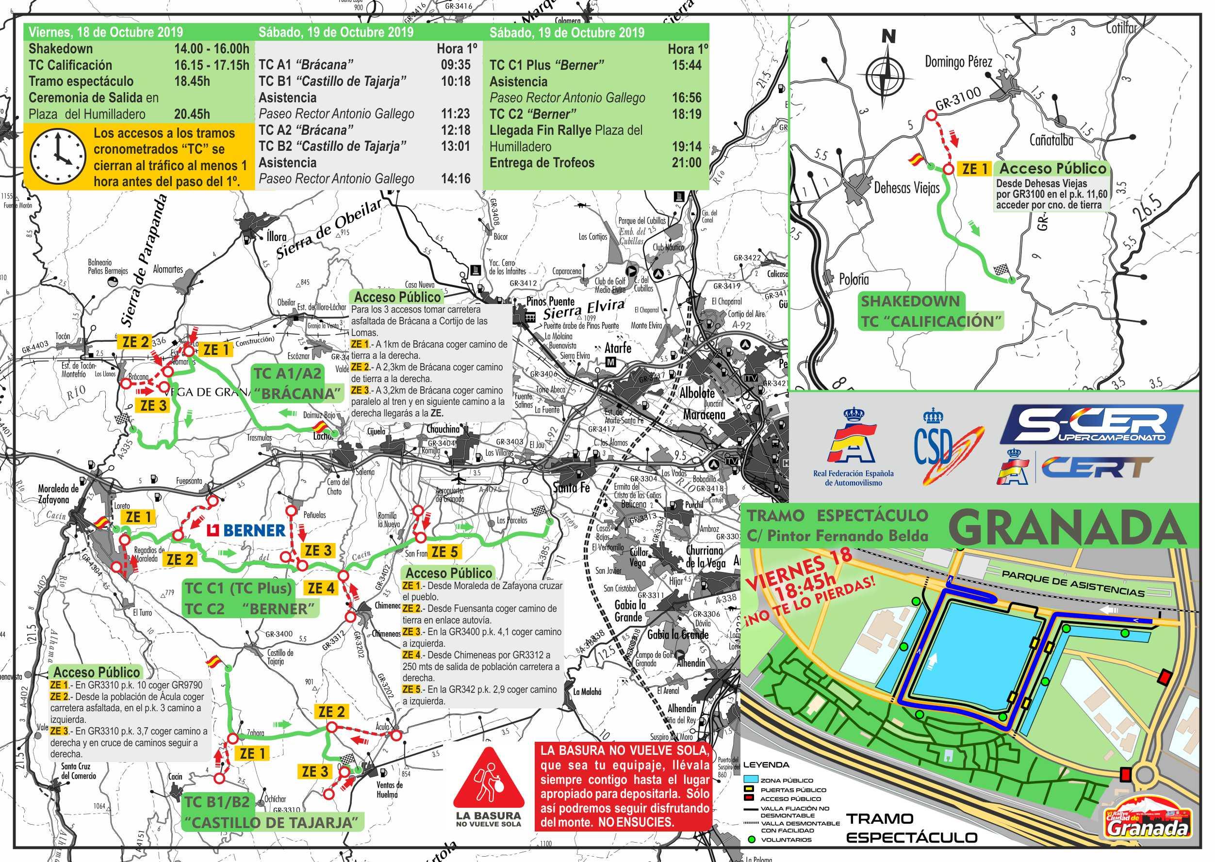 SCER + CERT: VI Rallye Ciudad de Granada [18-19 Octubre] Granada2019